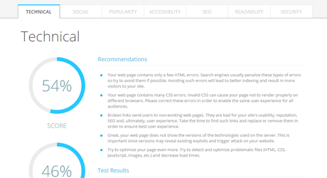 Feature: Reporting and recommendations